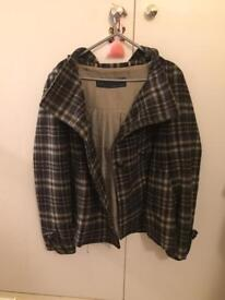 ZARA Checkered Wool Coat