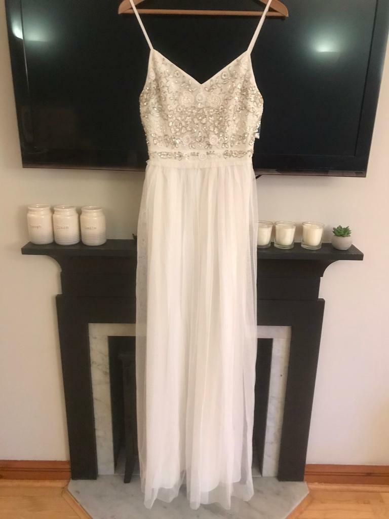 d7c4bd62a2d French Connection Embroidered Maxi Wedding Dress, size 10. Edinburgh City  Centre ...