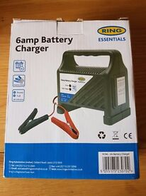 RING BATTERY CHARGER 6AMP NEW & BOXED - CAR BATTERY CHARGER