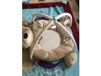 Mamas and papas play Gym/ Honey Bear And changing mat