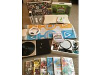 MASSIVE BUNDLE - Nintendo Wii Console + Skylanders + Wii Fit Board + 8 Games + Dance Mat + More