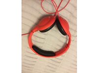 Red hudl headphones for young children