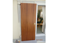 Interior flush panel door sapele