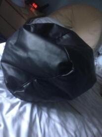 Black beanbag