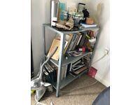 Ikea metal unit + small metal&wood side table
