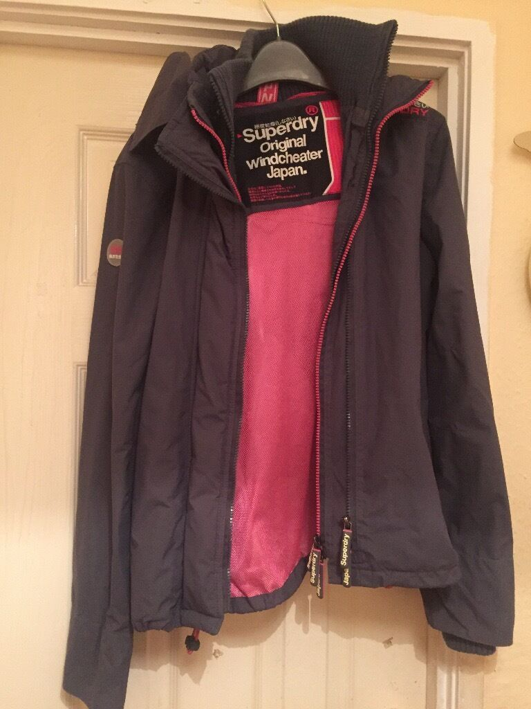 Superdry waterproof coat.