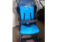 Silver cross reflex sky blue pushchair/pram