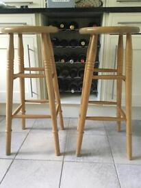 Pine Bar Stools - set of four