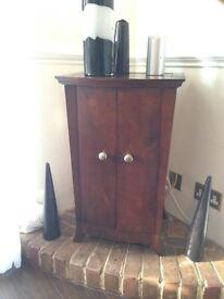 Vintage dark wood CD storage cabinet