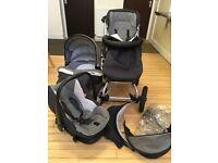 Clean Bebecar summer & winter travel system pram stroller pushchair plus extras inc raincover