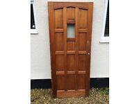 Solid Wood External Door with Glass