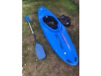 Kayak Pyrahna Master TG 265 with paddle and spraydeck