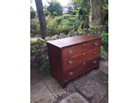mahogany chest of drawers with Prince of Wales feathers inlaid