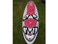 Windsurfing Starboard StarSurfer, soft deck with fins. Can be delivered between Aylesbury & Cornwall