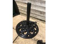 Cast iron parasol umbrella base stand