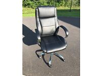 Staples Black Leather Executive Chair
