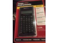 CFA Calculator Texas Instrument BA II Plus Professional