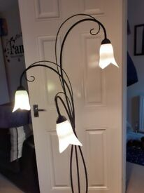 Floor lamp and ceiling lights