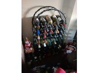 Metal arch wine rack