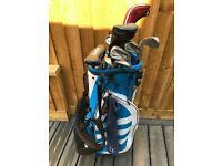 Nike slingshot golf clubs with addidas bag