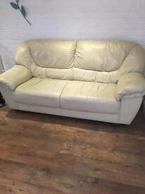 Cream leather sofa comfortable and free