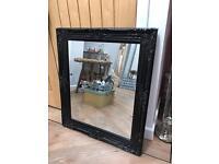 Lovely Large Black Framed Mirror