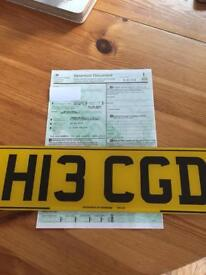 Numberplate H13 CGD