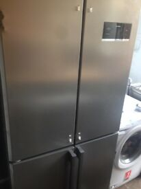 Silver American fridge freezer 4 doors...Very Cheap Free Delivery