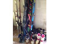 Skis and. Boots