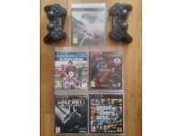 PS3 Slimline 320GB console plus 5 games, 2 controllers and original box ***REDUCED TO £100***