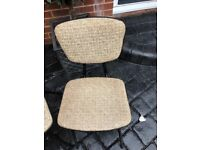 Retro two kitchen chairs old