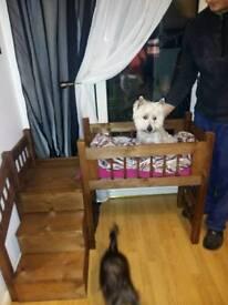 Dog bunk bed handmade