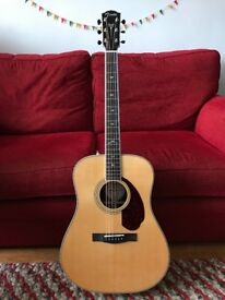 Fender, Paramount Series, PM-1 Dreadnought, natural finish, with Fishman Pickup and hardcase