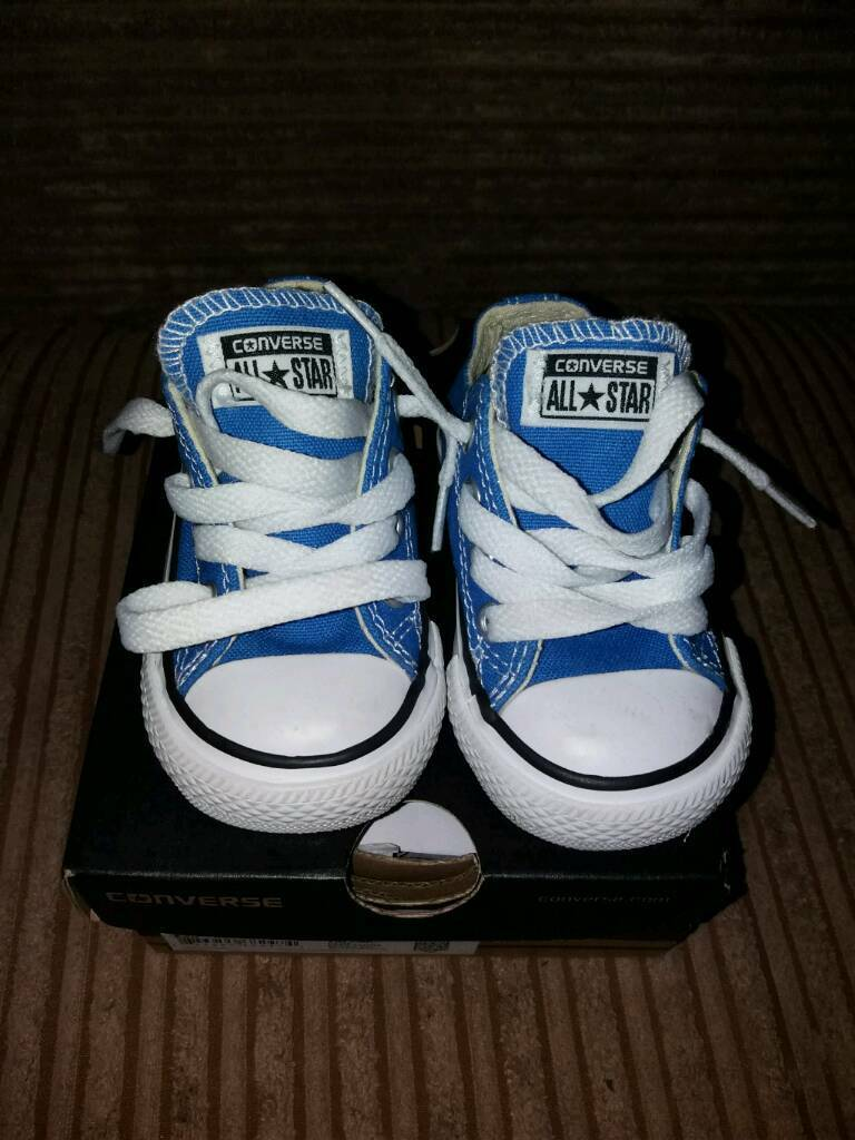 Baby converse shoes size 4. Brand new with box