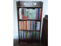 oak wood, decorative, paperback bookcase