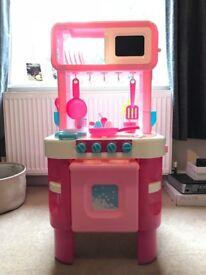 Pink Children's Play Kitchen Little Cooks