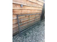 galvanised field gate 2.7m approx
