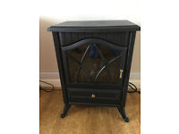 Portable Electric Stove Heater Fireplace - Log Burn Flame Effect