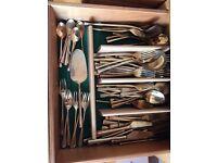 Set of bronze cutlery.