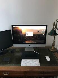 """27"""" iMac with Wacom graphics pad"""
