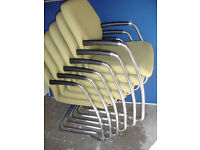 Designer fabric chairs x 6 available (Delivery)