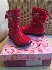 Girls red Lelli Kelly boots size 22 size (4)