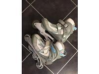 In line roller skates size 4