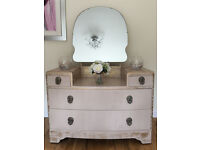 Vintage Cream & Gold Dressing Table - Not Shabby Chic