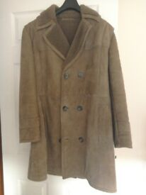 "Sheepskin coat. Men""s size L. Colour, Beige. Immaculate condition. Worn once."