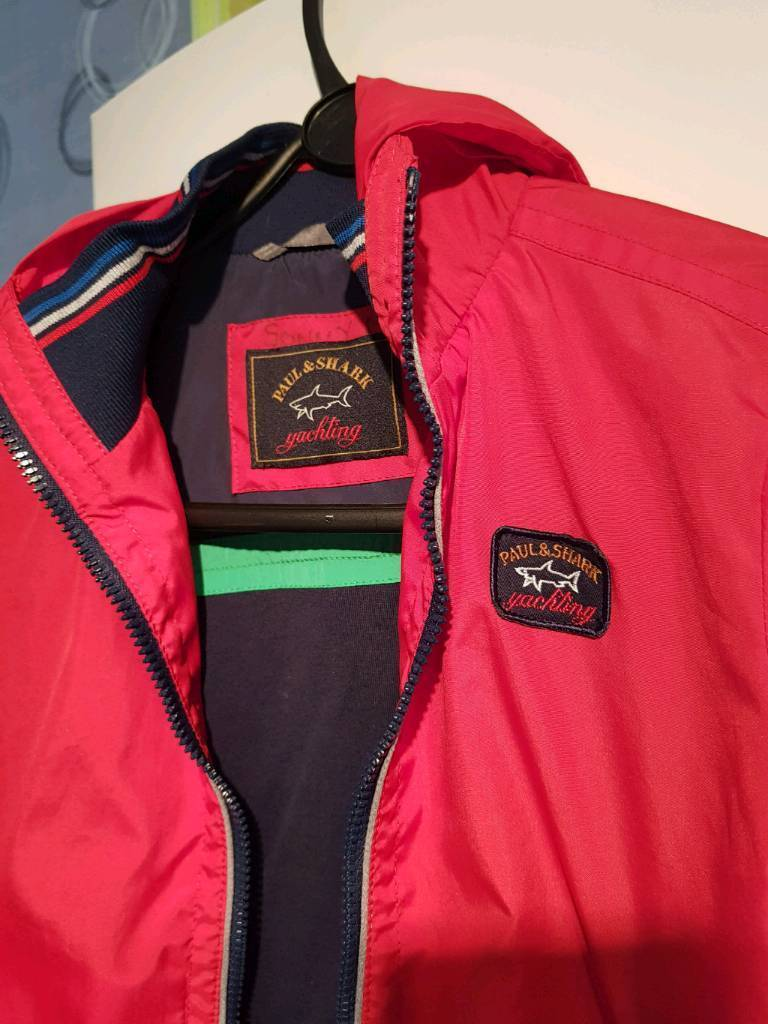 Genuine Paul and shark red jacket age 6 immaculate condition