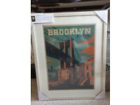 Brooklyn New York Poster in frame