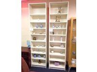 Large White Wood Bookcases