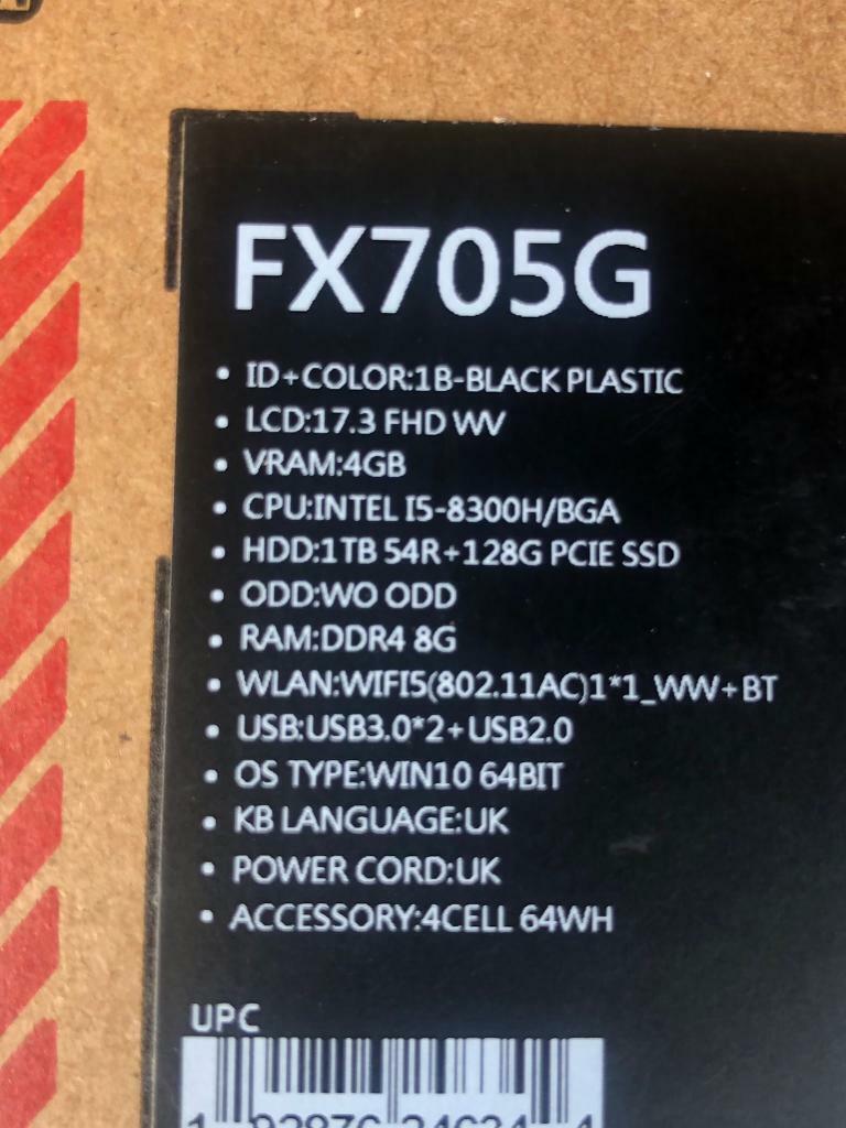 Gaming Laptop FX750 17'' screen | in Clydebank, West Dunbartonshire |  Gumtree