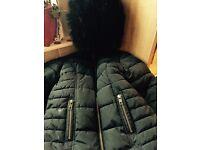 Girls black next jacket age 4
